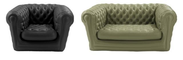 Di Blofield, il divano BigBlo2 misura L 175 x P 105 x H 80 cm (prezzo 594 euro) e la poltrona BigBlo1 misura L 115 x P 105 x H 80 cm (prezzo 475 euro). www.blofield.com