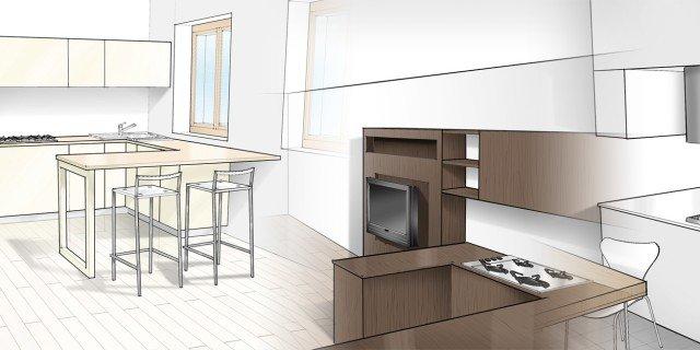 Tre soluzioni per una cucina cose di casa - Lunghezza cucina ...
