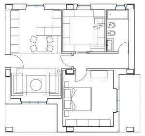 Ricavare la seconda camera in 55 mq cose di casa for Planimetria stanza