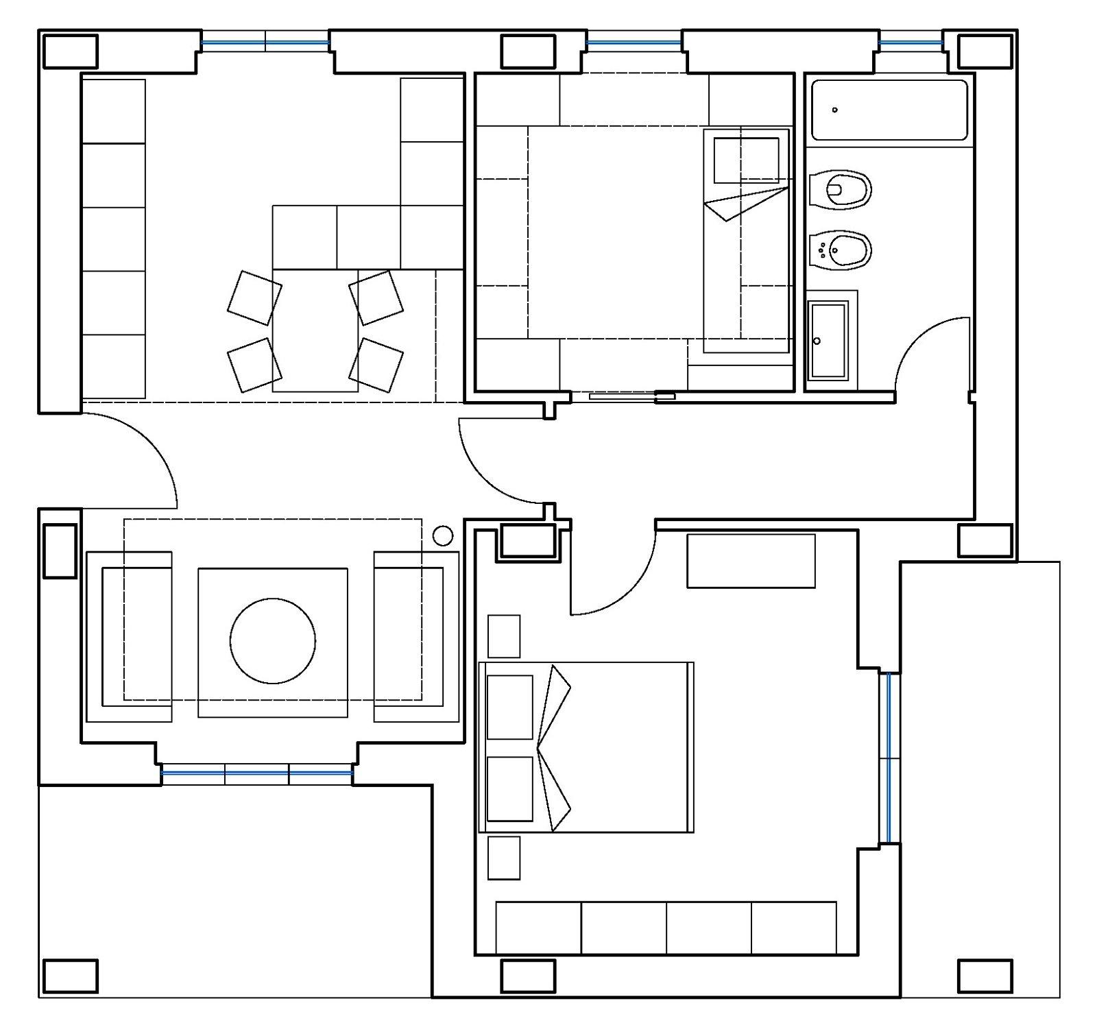 Ricavare la seconda camera in 55 mq - Cose di Casa