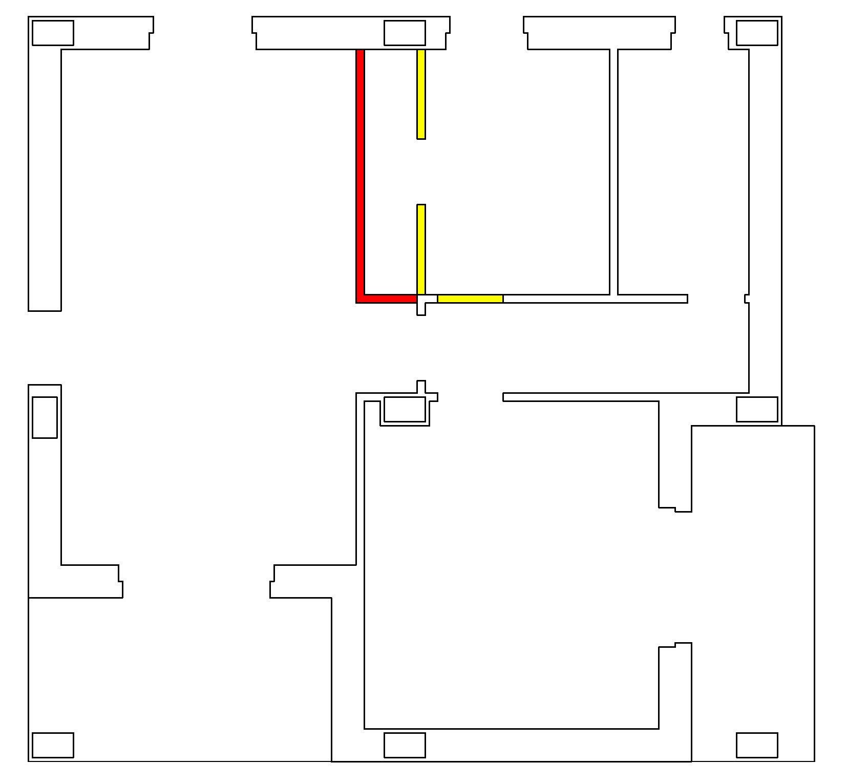 Ricavare la seconda camera in 55 mq cose di casa - Pianta di una cucina ...
