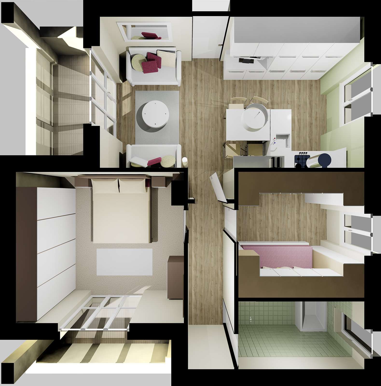 Ricavare la seconda camera in 55 mq cose di casa for Arredare camera da letto 9 mq
