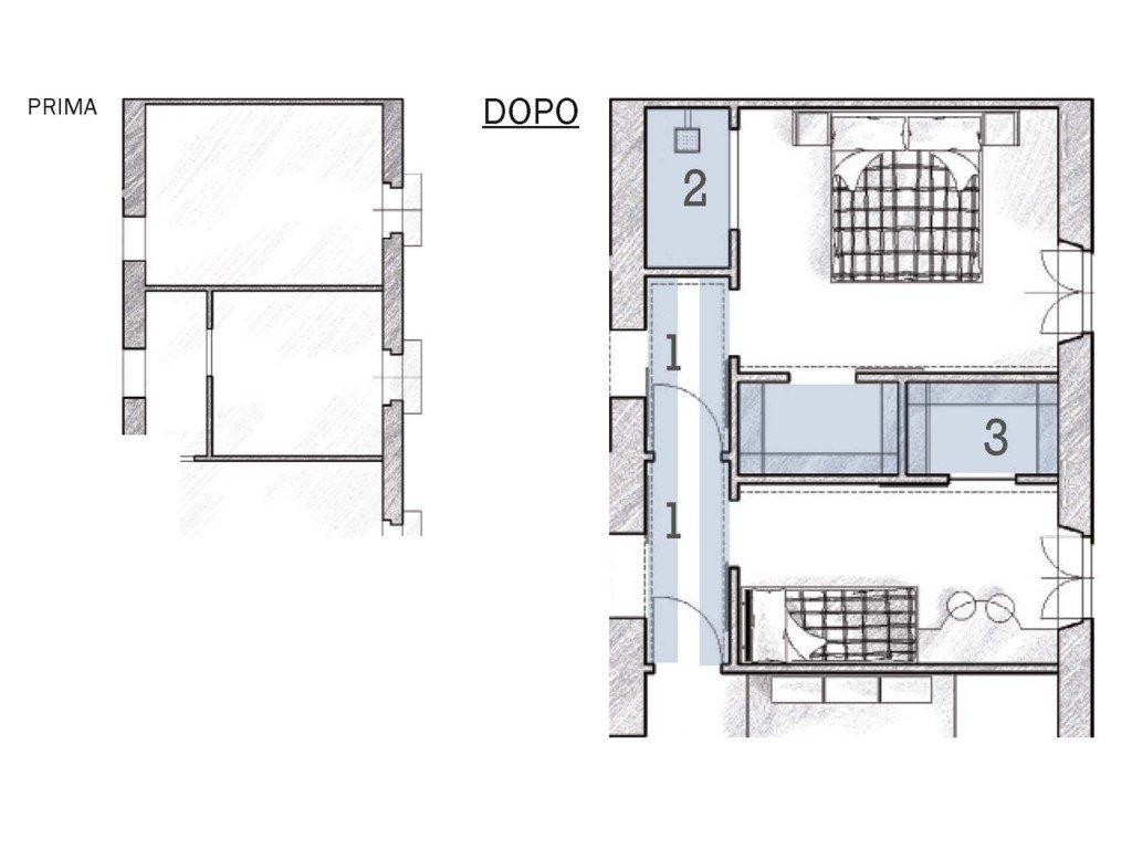 Due cabine armadio in pi e la doccia in camera cose di casa for 3 piani di casa bagno 1 camera da letto