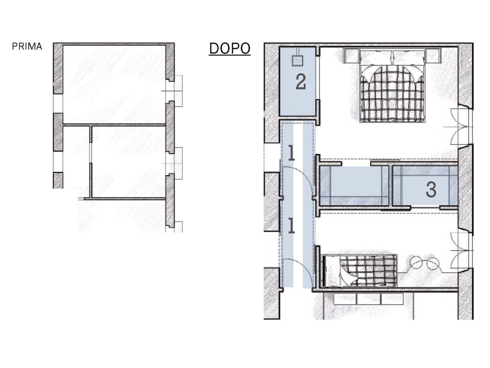 Due cabine armadio in pi e la doccia in camera cose di casa for Cabina armadio attraverso il bagno