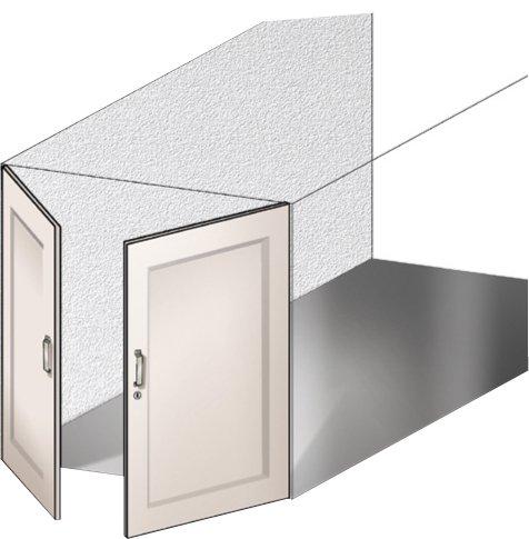 A battente - È la tipologia tradizionale di chiusura per box, molto utilizzata in passato. Composta da due ante che si aprono verso l'esterno, necessita di spazio davanti al vano. Caratterizzata da apertura manuale,oggi esiste anche in versione motorizzata.