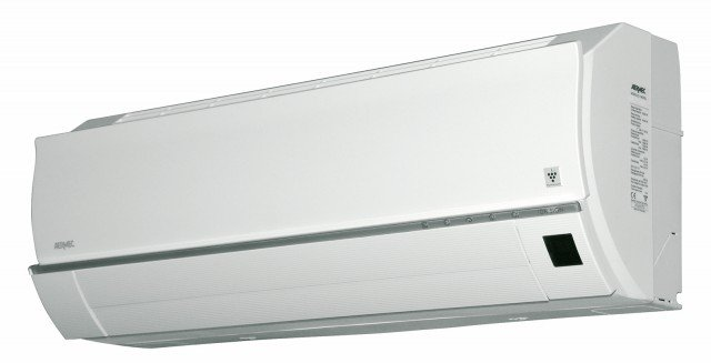 L'unità esterna del climatizzatore MIH Trialsplit di Aermec è collegata con tre unità esterne a parete, due da 9.000 Btu/h e una da 7.000 Btu/h. Il sistema funziona anche in riscaldamento con temperature esterne fino a -15 °C. Si attiva con telecomando a raggi infrarossi. Misura L 79 x P 19,8 x H 27,8 cm. Prezzo 1.943,50 euro. www.aermec.com