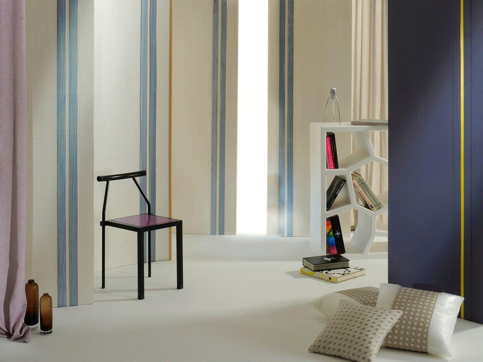 La carta da parati per trasformare le pareti di casa - Pareti a righe camera da letto ...