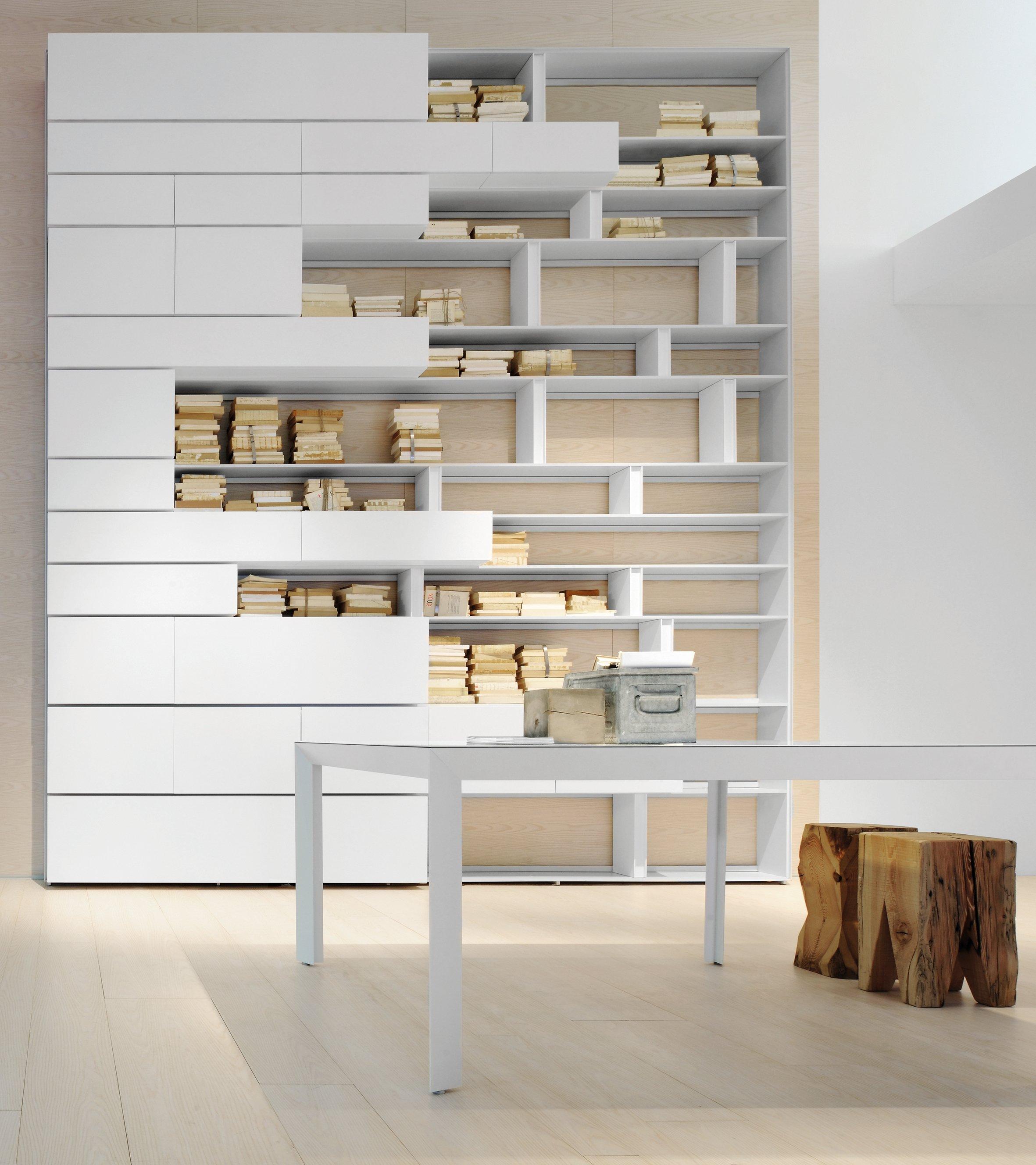Line di Albed, struttura e divisori in alluminio verniciato bianco per ...