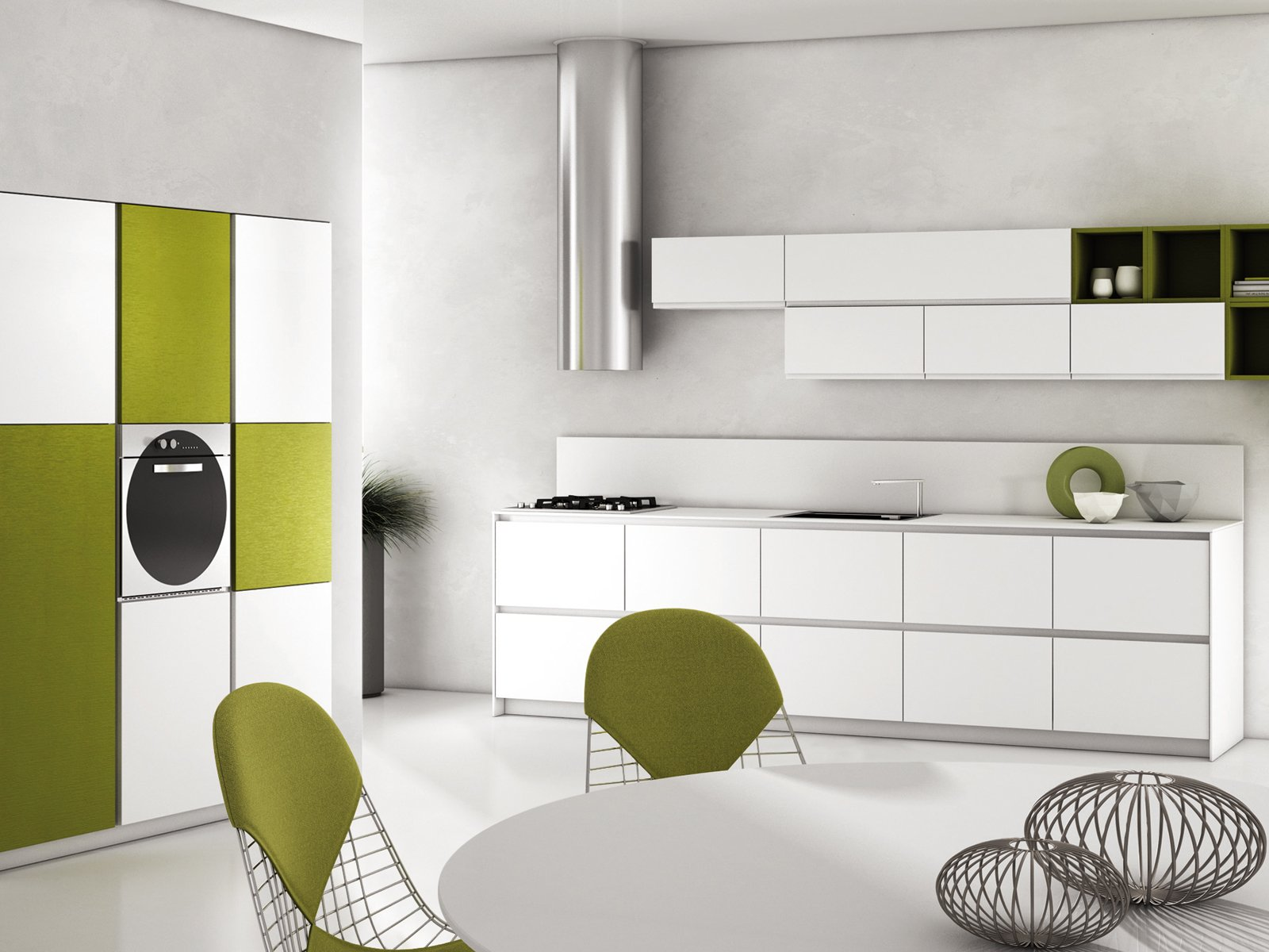 La cucina in soggiorno cose di casa - Colorare pareti cucina ...