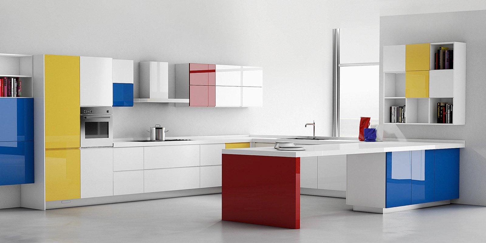 La cucina colorata un guizzo di vitalit cose di casa for Piastrelle cucina colorate