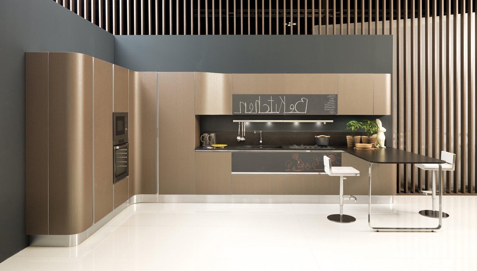 nella cucina mir di aran top e penisola sono realizzati in evo www