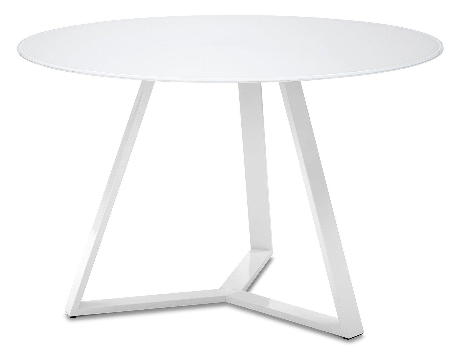 Idee lavanderia decoracion - Tavolo rotondo allungabile bianco ...
