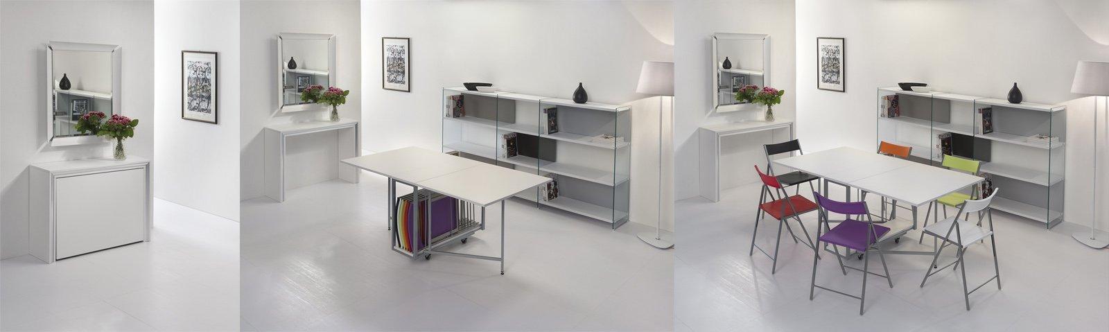 Trasformabili salvaspazio e doppia funzione cose di casa for Tavolo consolle con sedie