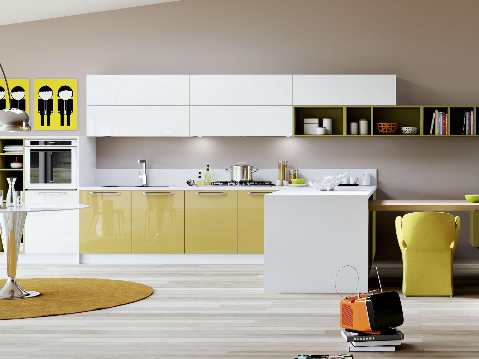 salone bicolore classico : Lo spazio cucina Young di Arredo3 ? contenuto ma si dilata diventando ...