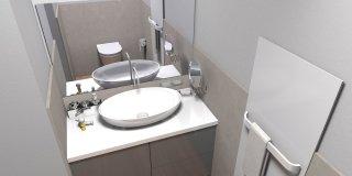 Ricavare secondo bagno, lavanderia e armadio a muro da un solo bagno