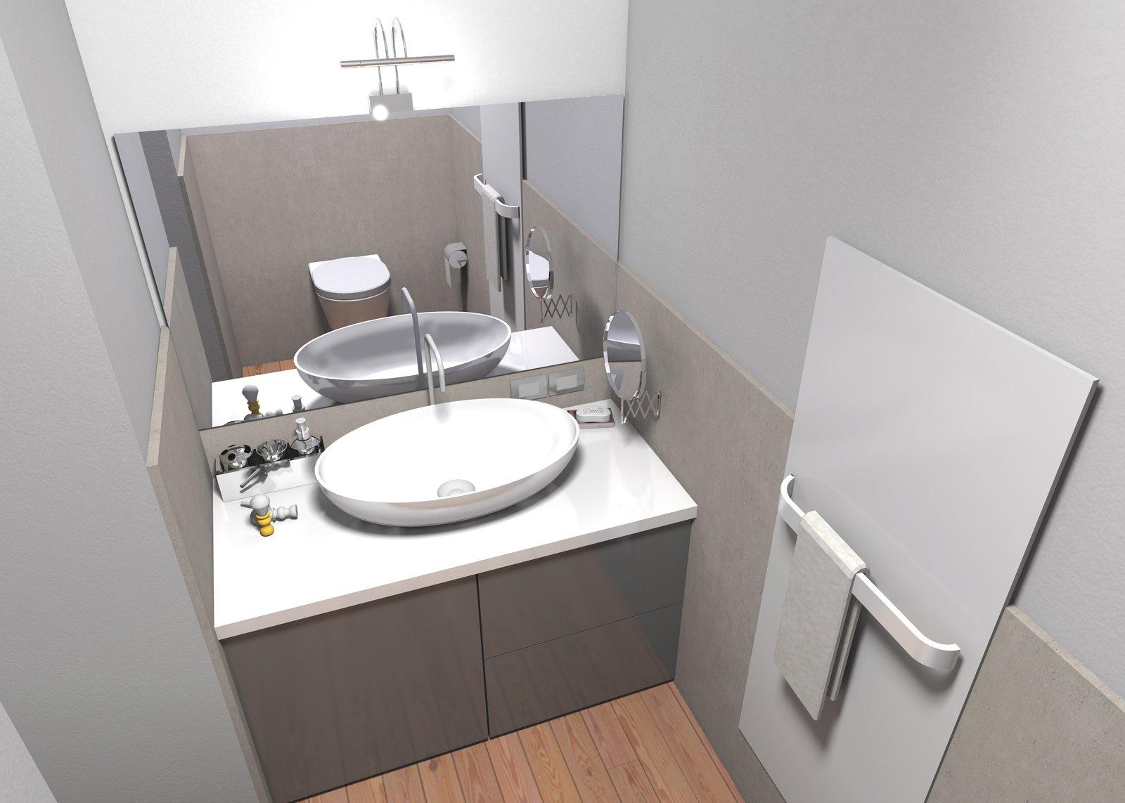 Ricavare secondo bagno lavanderia e armadio a muro da un - Bagno 4 mq arredo ...