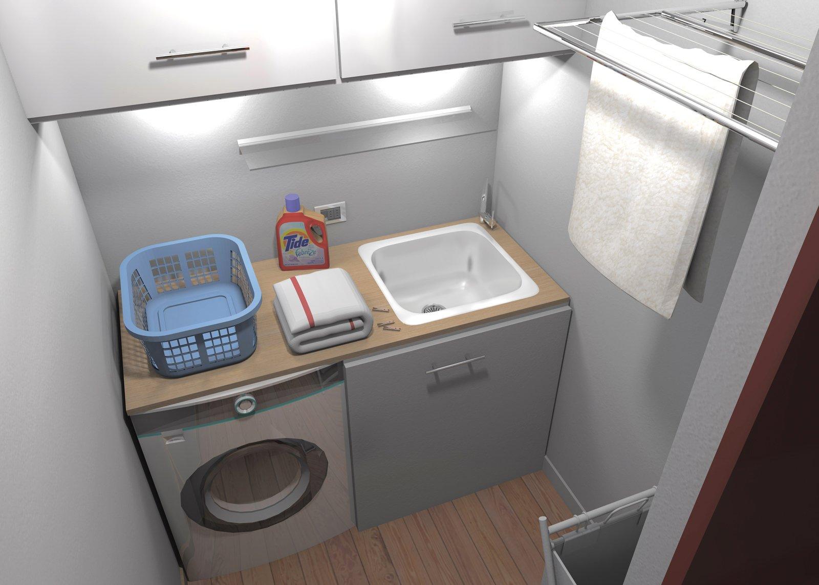 Ricavare secondo bagno lavanderia e armadio a muro da un solo bagno cose di casa - Bagno di casa ...