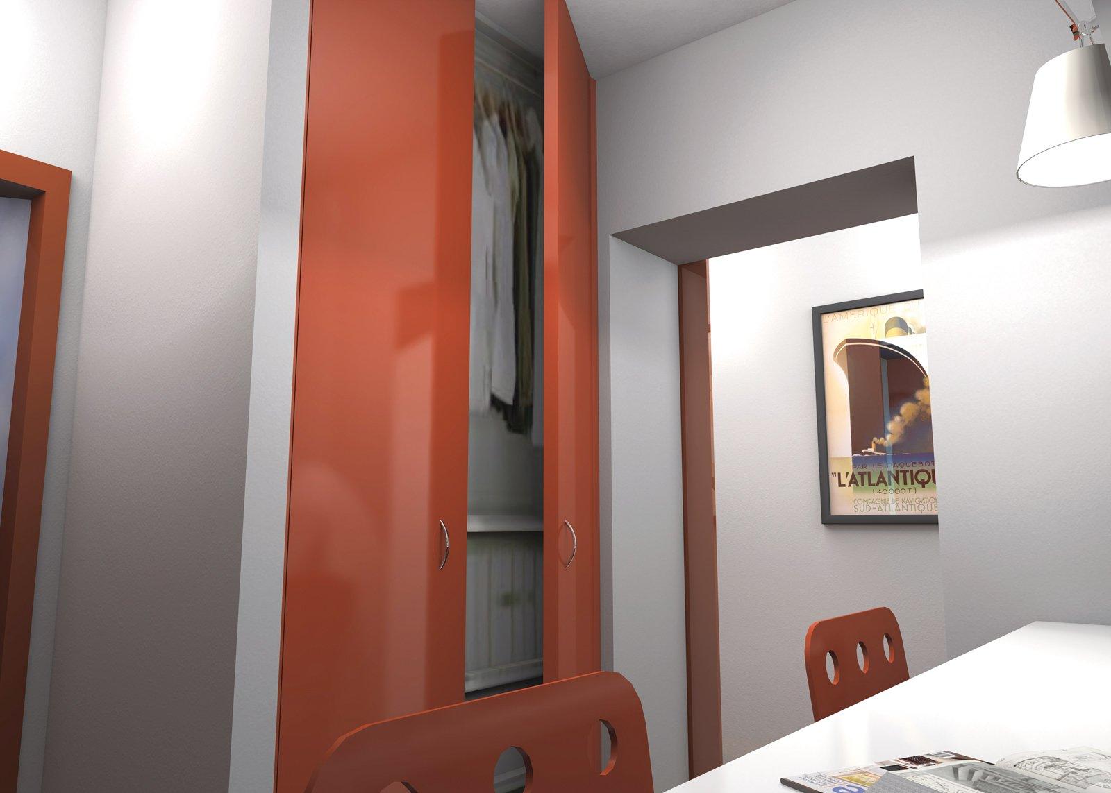 Ricavare secondo bagno lavanderia e armadio a muro da un for Armadio da bagno