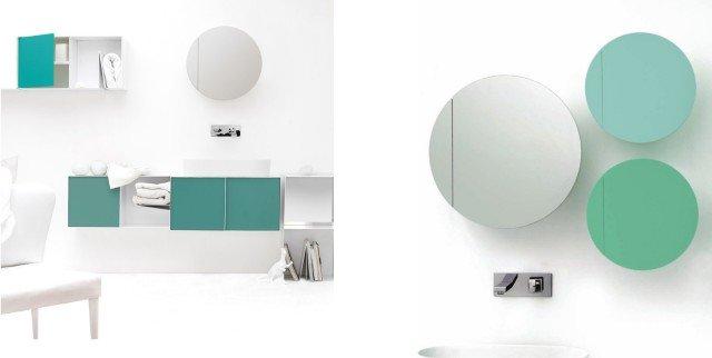 Bon Single è un divertente contenitore a parete per la zona bagno, disegnato per Ex.t dal giapponese Hiroshi Kawano. Utile e pratico, è realizzato in metallo verniciato mentre la mensola è in legno laccato all'interno. Disponibile in vari colori, con o senza anta a specchio. Misura Ø 50 xP 12 cm. Prezzo a partire da euro334 per il modello di diametro 36 x P 14 cm. Per la versione con anta a specchio: prezzo 494 euro. I prodotti sono in vendita on line direttamente sul sito www.ex-t.com