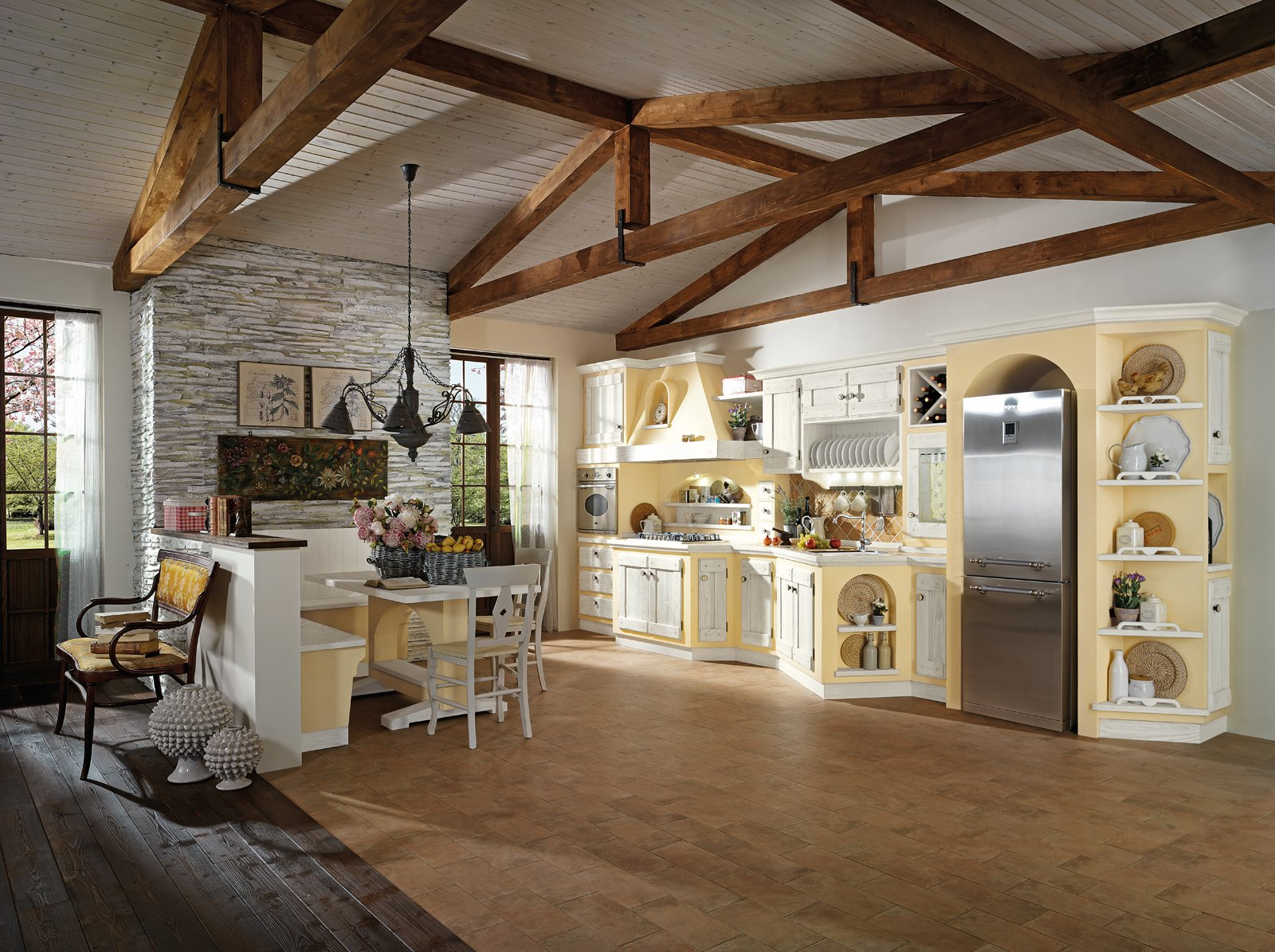 Amazing good imita la muratura ma finita con vernice al - Vernice lavabile cucina ...
