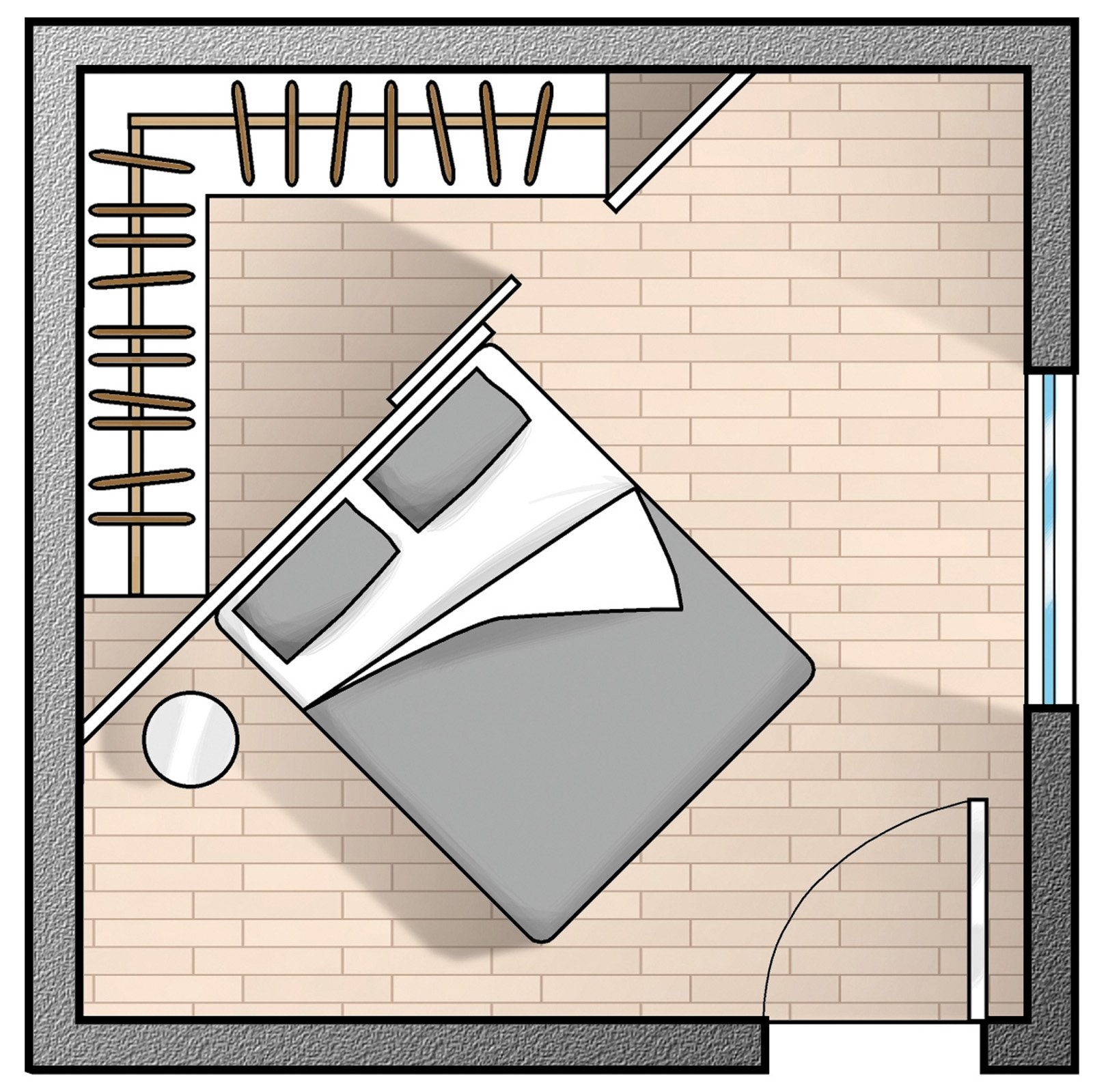 Casabook immobiliare cabine armadio soluzione trendy - Camera da letto con cabina armadio ad angolo ...