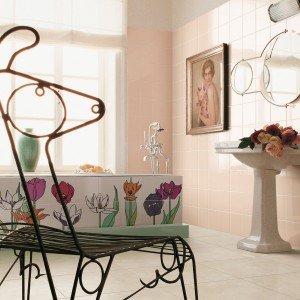 La serie di piastrelle Tuli Tuli di Ceramica Bardelli in bicottura è composta da due set da dodici pezzi, interamente pennellati a mano su fondo bianco lucido. Una piastrella misura 20 x 20 cm. www.bardelli.it