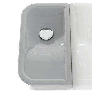 Opera Mini di Ceramica Cielo è il lavabo sospeso e appoggiato che misura L 45 x P 25 x H 8 cm. Prezzo da rivenditore.  www.ceramicacielo.it