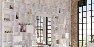 Una libreria versatile: Cubit, facile da montare e per tutti gli spazi