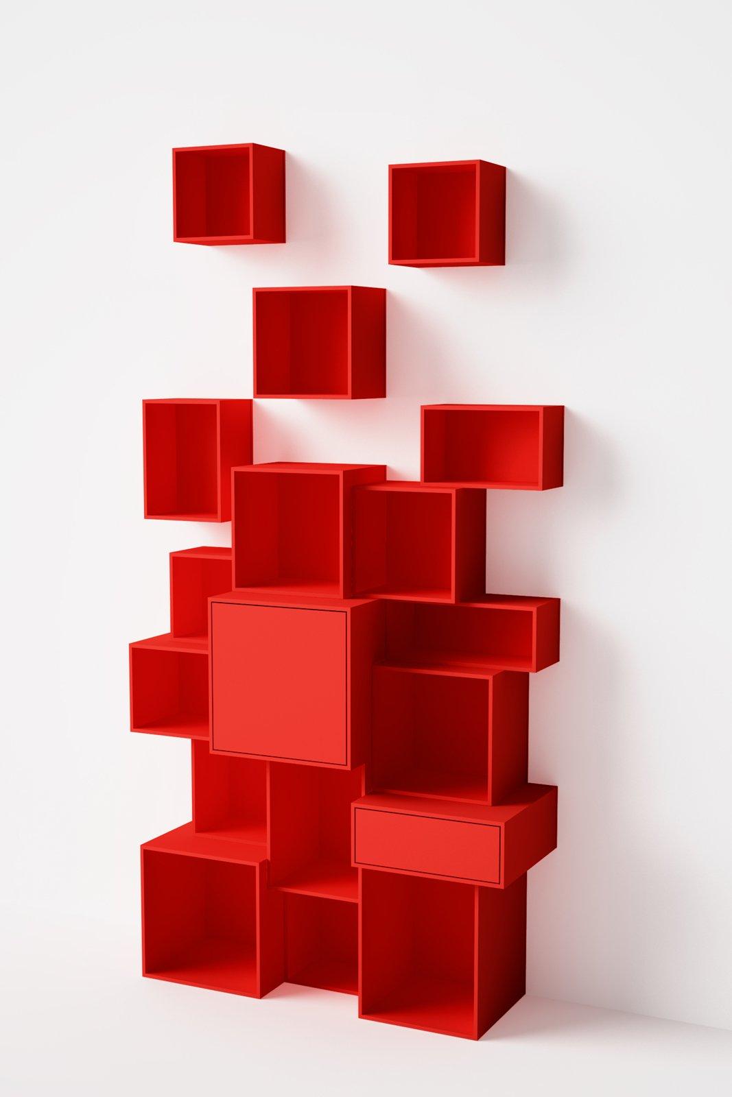 Una libreria versatile cubit facile da montare e per - Kallax rot ...