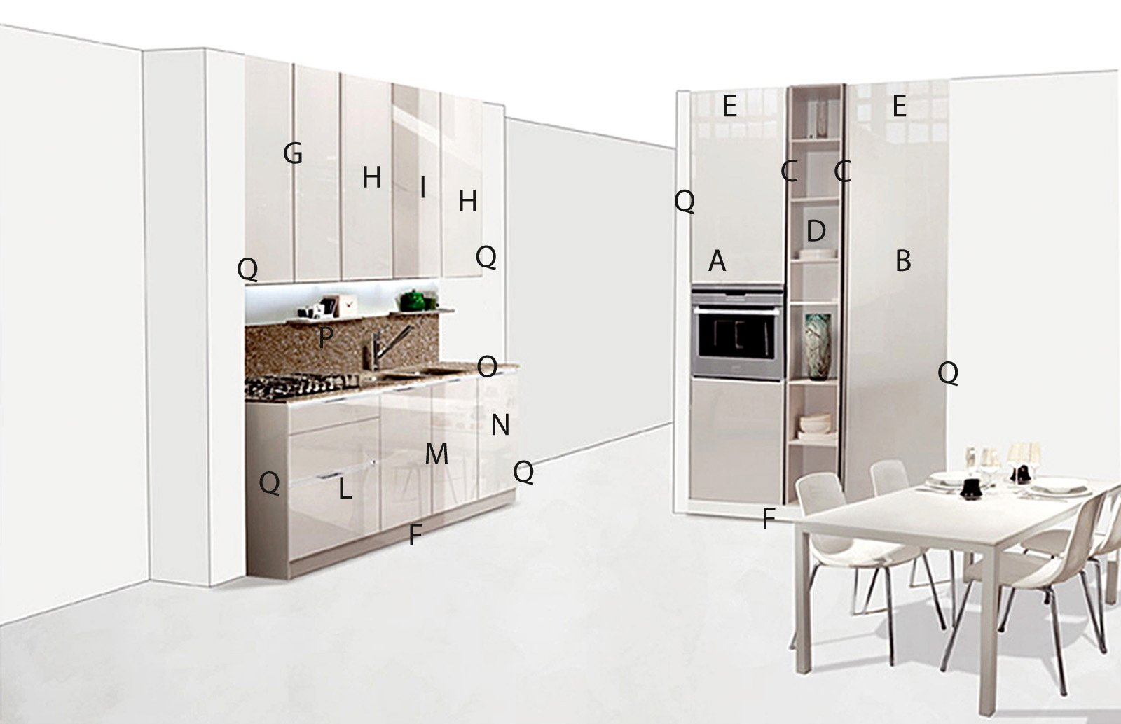 Misure standard mobili cucina. excellent cucina angolare misure