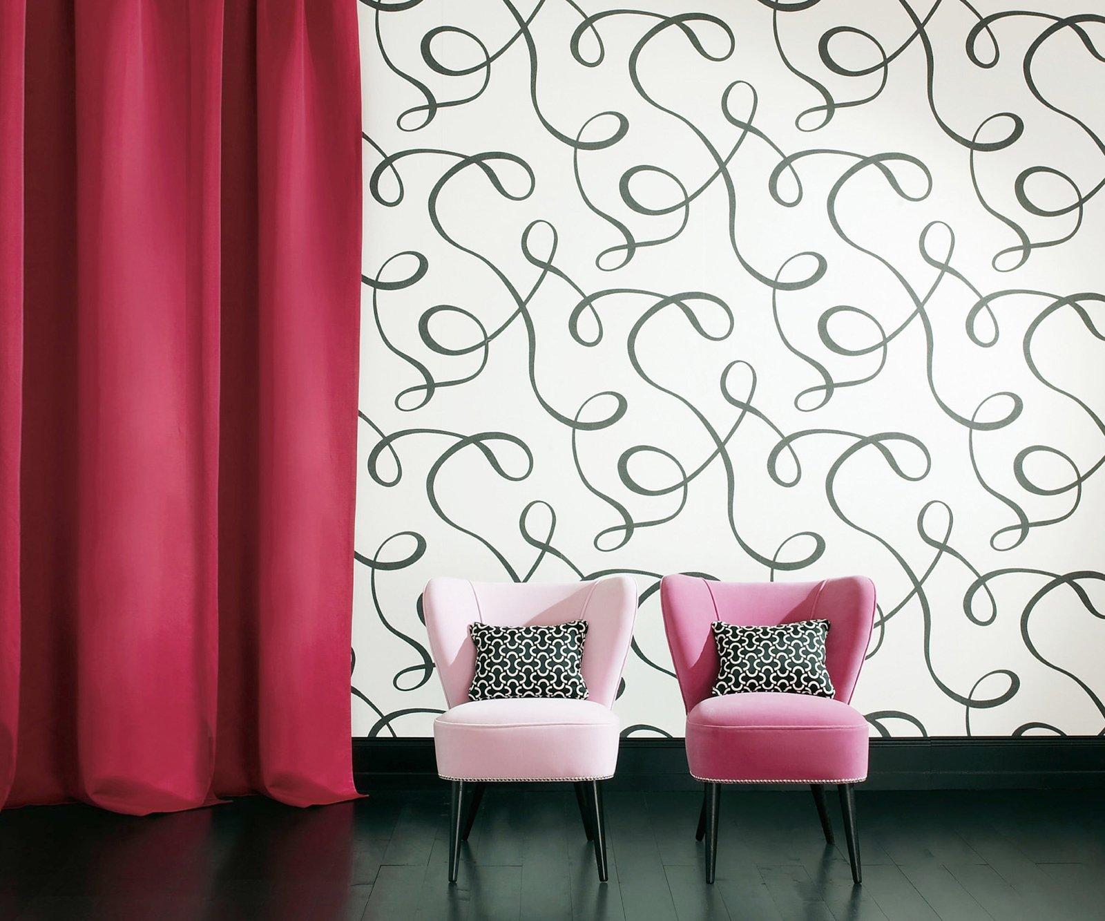 Pareti Camera A Righe: Decorazione di interni su parete pannelli e ...