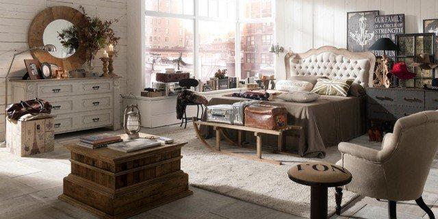 Stile vintage un impronta particolare mobili giardina - Camera industrial chic ...