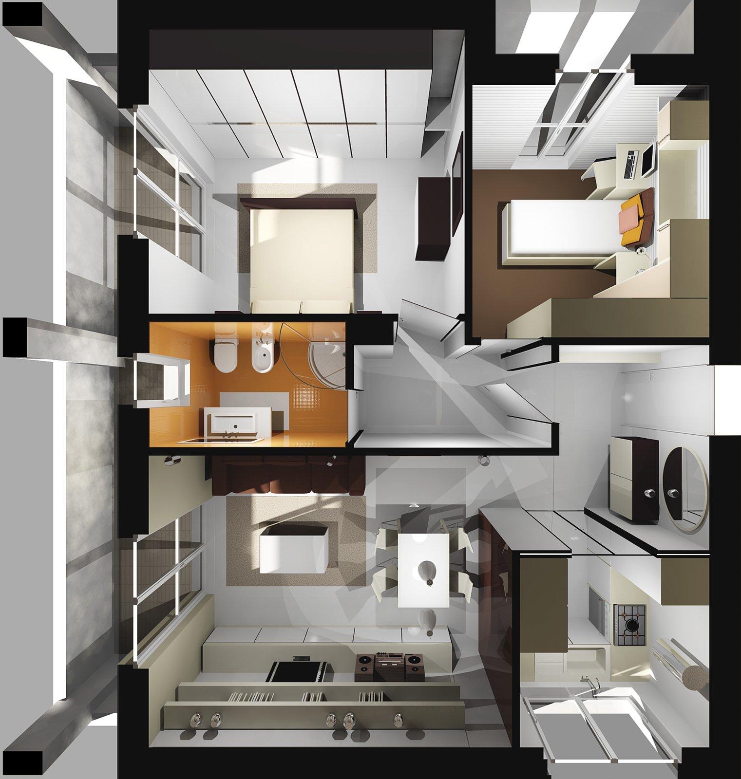 Ricavare la seconda camera in 60 mq cose di casa - Planimetria casa 60 mq ...