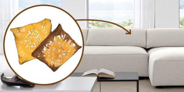 Decorare i cuscini cose di casa - Tingere tessuti divano ...