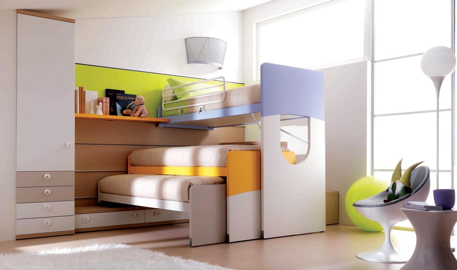 Camerette funzionalit a misura di bambino cose di casa for Piani di casa rustici con soppalco