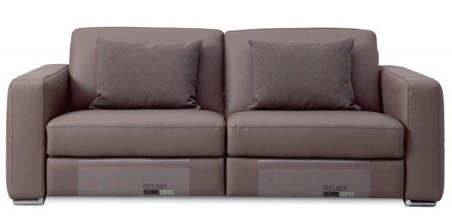 Prezzo 1.050 euro - Dylan di Doimo Sofas. Ha struttura in legno massiccio di abete e imbottitura in poliuretano espanso il divano rivestito in morbida pelle che misura L 180 x P 94 x H 80 cm. www.doimosofas.com