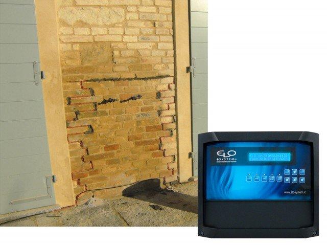 I'impianto di elettrosmosi  di Elo System permette l'asciugatura completa del muro. È sempre monitorato anche a distanza grazie alla centralina. www.fassabortolo.com