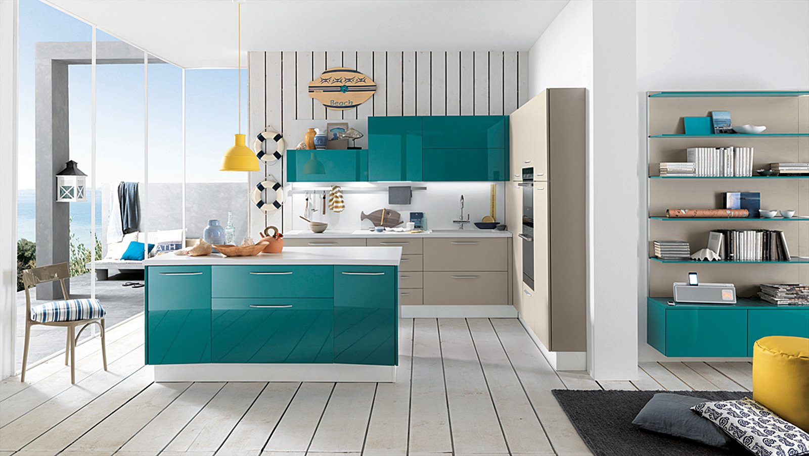 La Cucina Colorata Un Guizzo Di Vitalità Cose Di Casa #146B70 1600 903 Immagini Di Tende Per Cucina