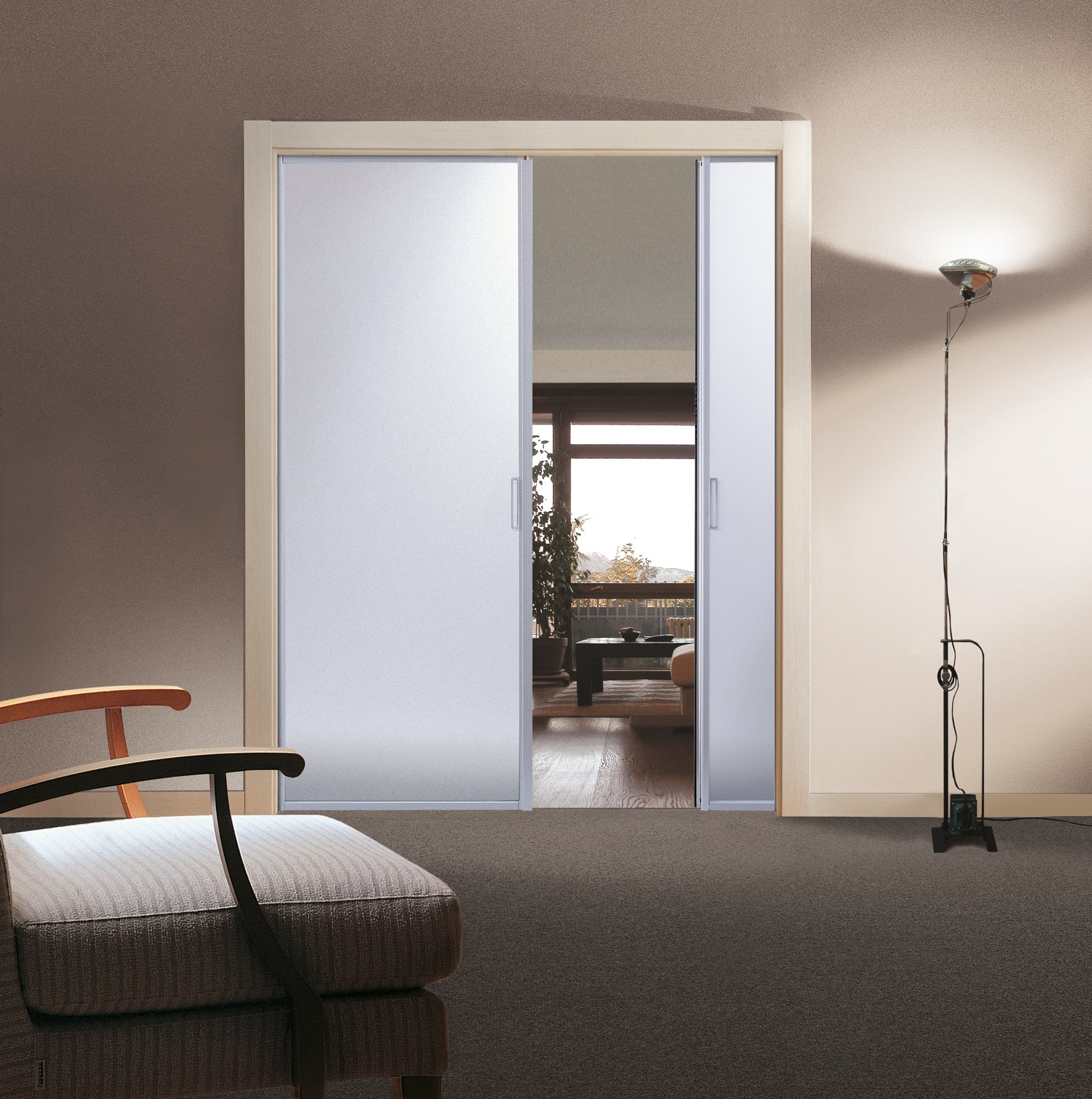 Porte scorrevoli per risolvere problemi di spazio cose - Porta in vetro scorrevole ...