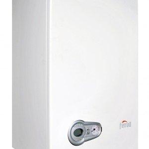 Bluehelix Pro di Ferroli ha potenza termica di 27 kW. È la caldaia murale a condensazione con produzione di acqua sanitaria. Misura L 40 x P 32 x H 60 cm.  Prezzo da rivenditore. www.ferroli.it