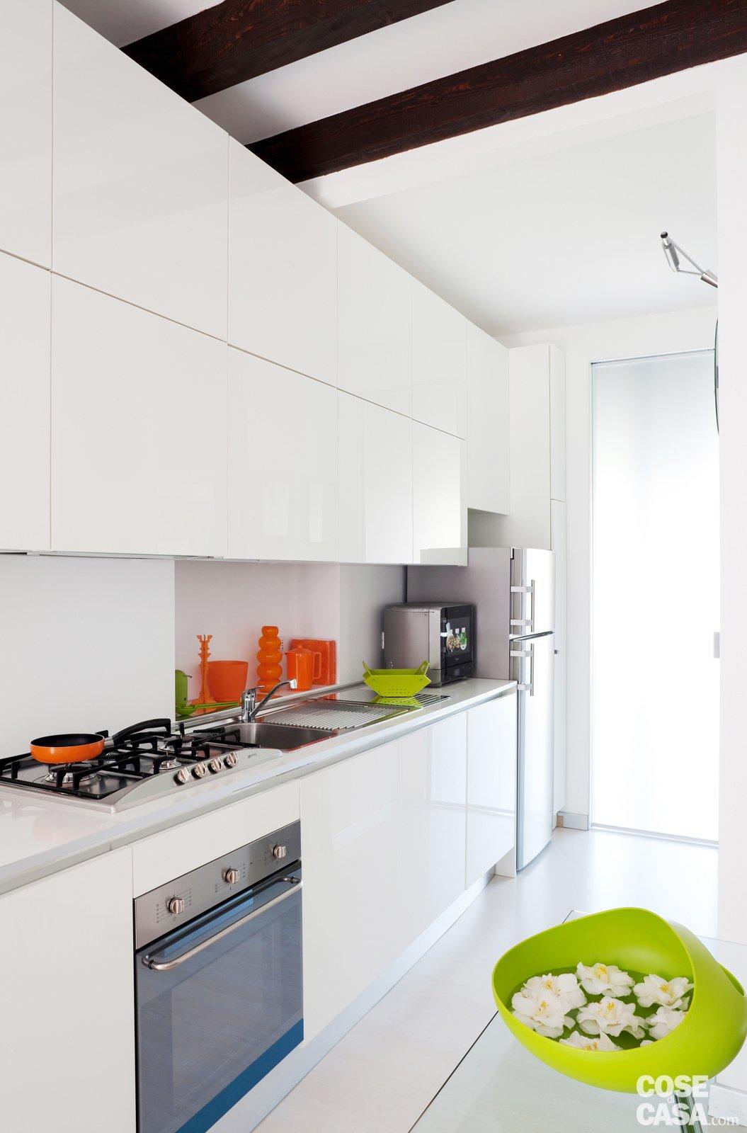 Una Casa Di 35 Mq Sfruttati Al Massimo Cose Di Casa #9FB609 1055 1600 Come Arredare Cucina Soggiorno 20 Mq