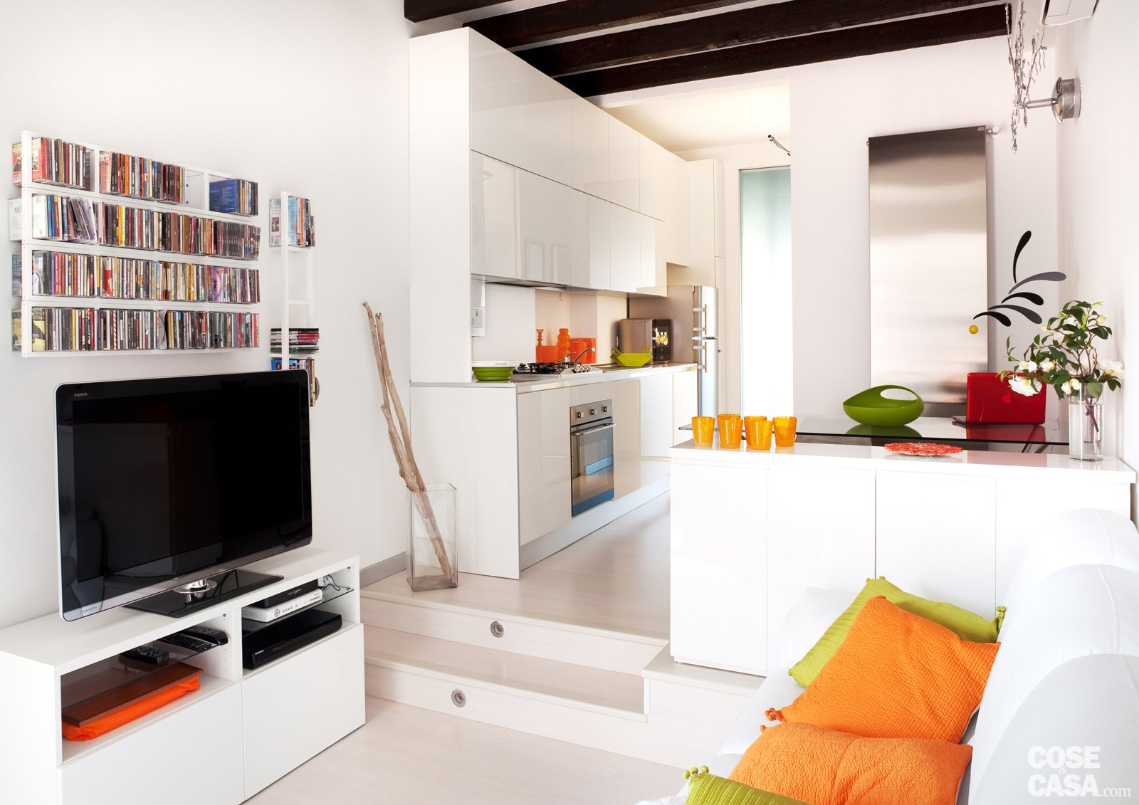 Una Casa Di 35 Mq Sfruttati Al Massimo Cose Di Casa #BE5B0D 1600 1131 Come Arredare Una Cucina Soggiorno Di 40 Mq