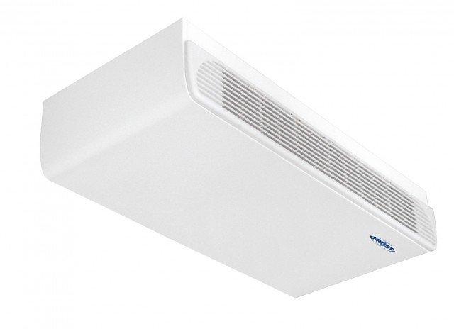 Compatti e versatili, i ventilconvettori da soffitto Serie F di Frost Italy a funzionamento idronico esistono anche in versione da parete e da pavimento. Dispongono di telecomando a raggi infrarossi. Le potenze variano da 1,8 a 9 kW. Da 1,8 kW misura L 84,7 x P 23 x H 54 cm. Prezzo da rivenditore. www.frostitaly.it