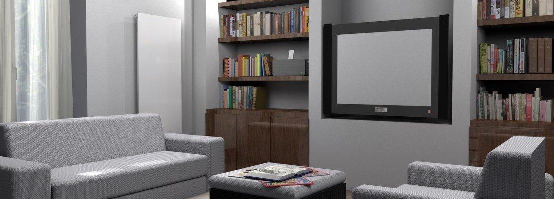 La parete libreria in cartongesso   cose di casa