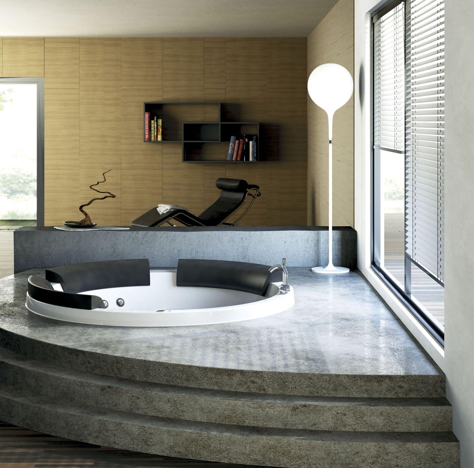 Le vasche idromassaggio cose di casa - Vasca da bagno altezza da terra ...
