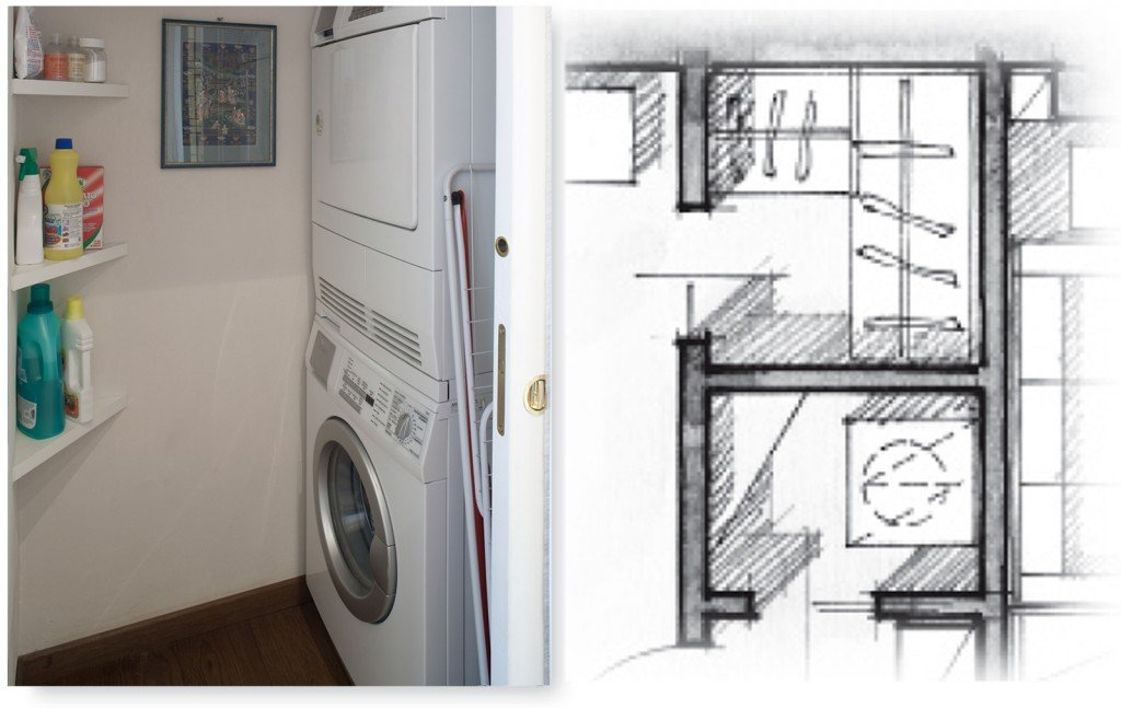 Una casa di 80 mq superfunzionali cose di casa for Piani di camera di lavanderia