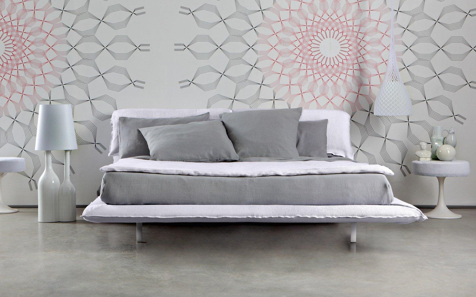 Letti il design si fa pi morbido cose di casa - Spalliera letto imbottita ...