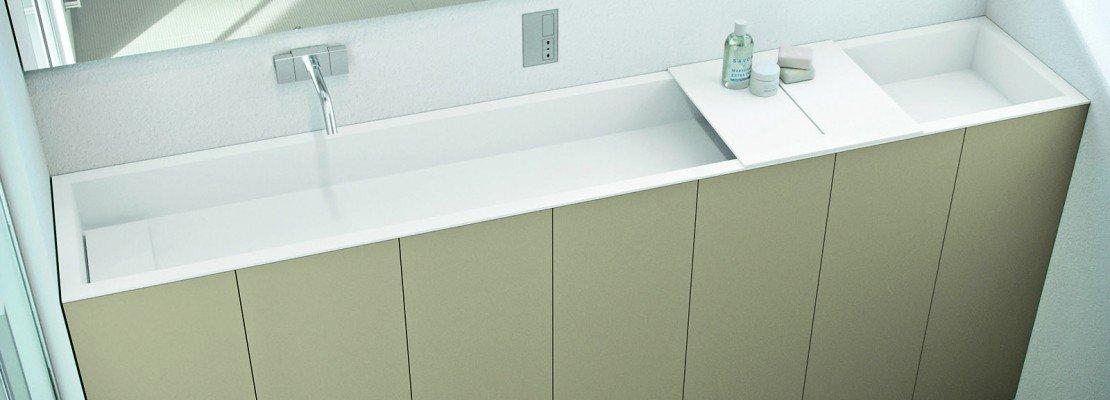 Per il bagno stretto, il lavabo modulare - Cose di Casa