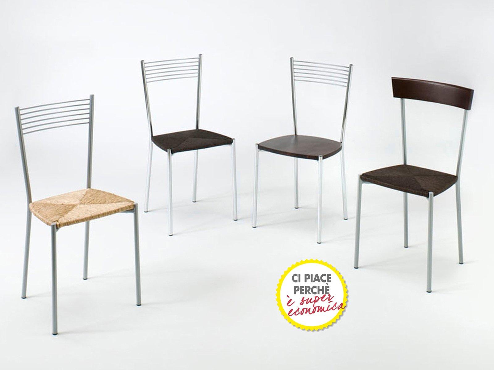 Sedie low cost 15 modelli a meno di 100 euro cose di casa for Sedie acciaio e legno