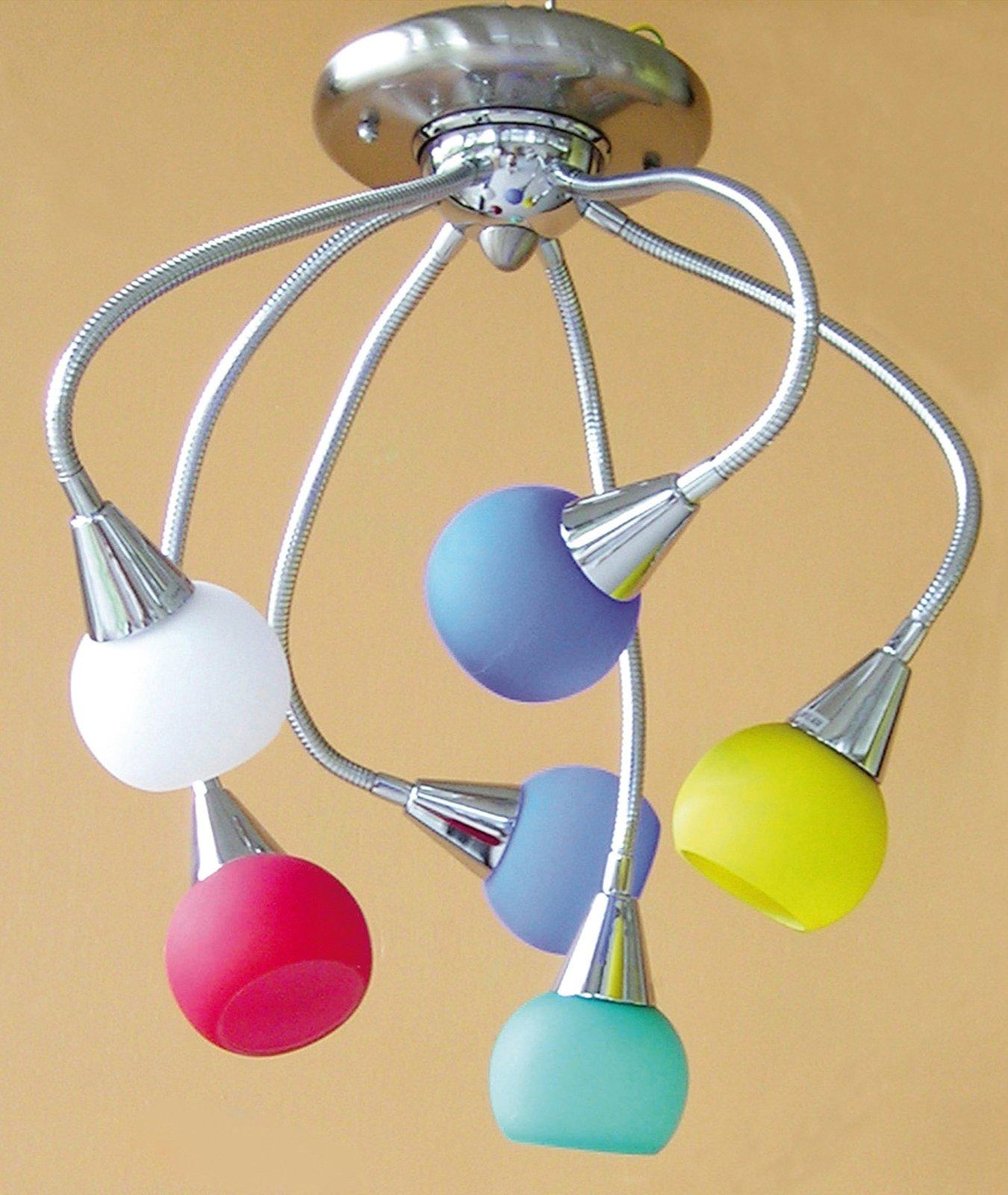 lampadari colorati : Grazie ai 6 bracci orientabili, il fascio luminoso viene indirizzato ...
